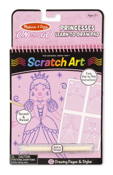 Melissa & Doug Princesses Learn-To-Draw Scratch Pad - Toyabella.com
