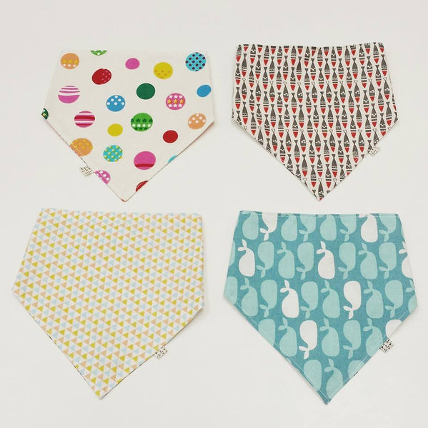 Curious Cat Reversible Scarf Bib by Oli & Belle - Toyabella.com