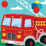 Pop-Up Treasures Greeting Card - Fire Truck - Toyabella.com