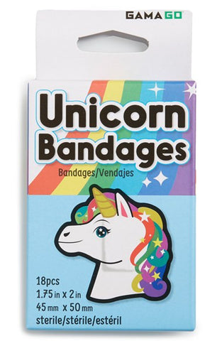 Gamago Unicorn Bandages 18 pieces - Toyabella.com