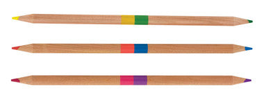 International Arrivals 2 Of A Kind Double Ended Colored Pencils - Set of 12/24 Colors - Toyabella.com