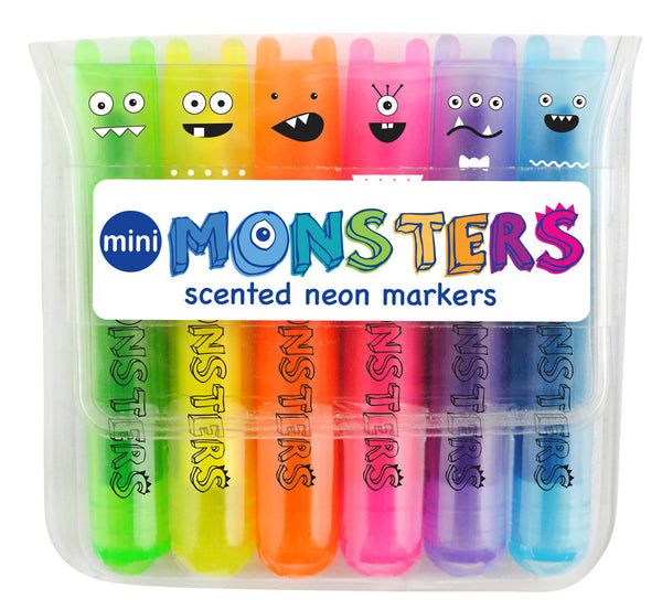 International Arrivals Mini Monster Scented Highlighter Markers - Set of 6 - Toyabella.com