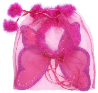Great Pretenders Hot Pink Fairy Wings and Halo - Toyabella.com
