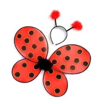 Great Pretenders Ladybug Wings with Headband - Toyabella.com
