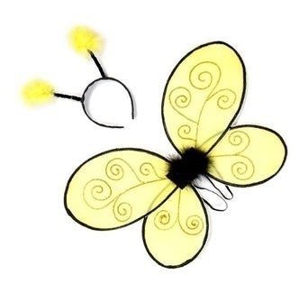 Great Pretenders Bumble Bee Wings with Headband - Toyabella.com