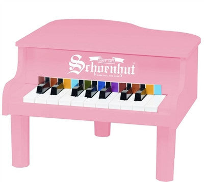 Schoenhut 18 Key Pink Mini Grand Piano - Toyabella.com