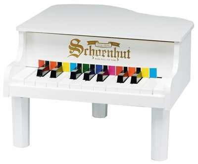 Schoenhut 18 Key White Mini Grand Piano - Toyabella.com