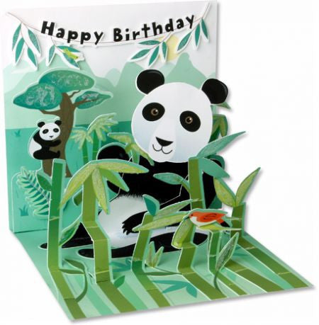 Pop-Up Treasures Greeting Card - Panda - Toyabella.com