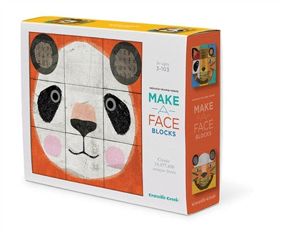 Crocodile Creek Make A Face Mix & Match Block Puzzle - Toyabella.com