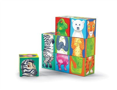 Crocodile Creek Make A Zoo Mix & Match Block Puzzle - Toyabella.com
