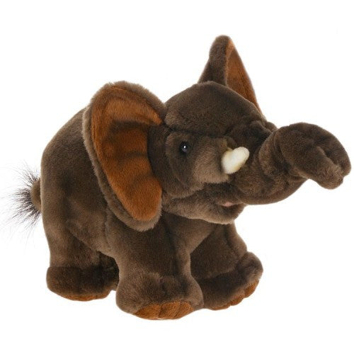 "Hansa Plush Realistic Stuffed Animal - Elephant Baby 9""L - Toyabella.com"