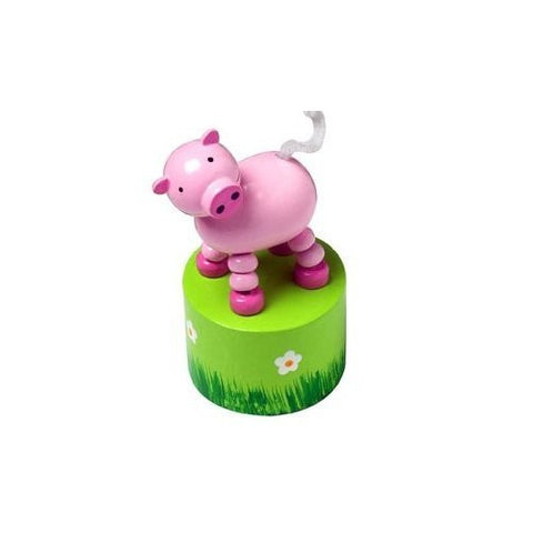 Pig Push Up Toy by Orange Tree Toys - Toyabella.com