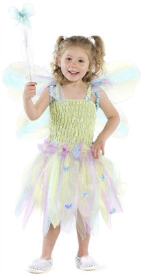 Great Pretenders Butterfly Dress with Wings and Wand -- Size Med - Toyabella.com