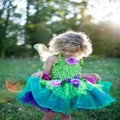 Great Pretenders Fairy Blooms Deluxe Green Dress with Wings - Toyabella.com
