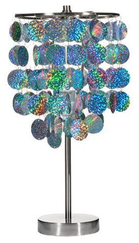 3c4g Three Cheers For Girls Silver Paillette Table Lamp - Toyabella.com
