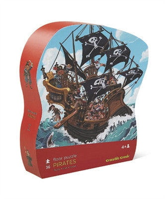 Crocodile Creek Pirate Shaped 36-piece Puzzle - Toyabella.com