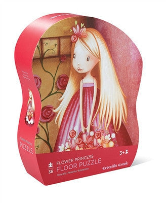 Crocodile Creek Flower Princess 36-piece Puzzle - Toyabella.com