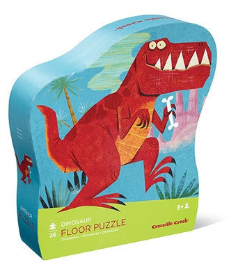 Crocodile Creek Dinosaur Shaped 36-piece Puzzle - Toyabella.com