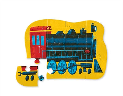 Crocodile Creek Locomotive Mini 12-piece Puzzle - Toyabella.com