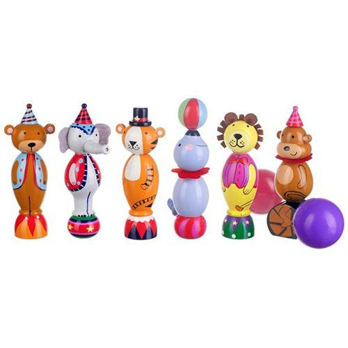 Vintage Wooden Circus Skittles By Orange Tree Toys - Toyabella.com