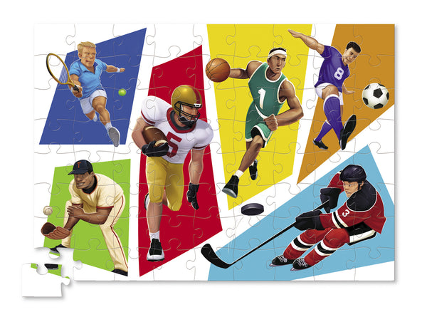 Crocodile Creek World of Sports 72-piece Puzzle - Toyabella.com