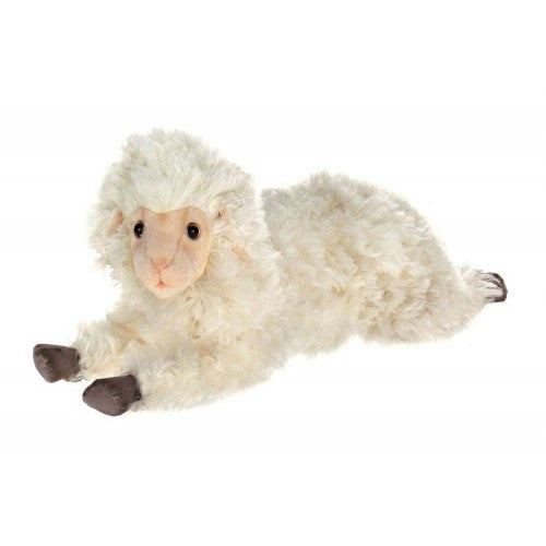 "Hansa Plush Realistic Stuffed Animal - Little Lamb 18""L - Toyabella.com"