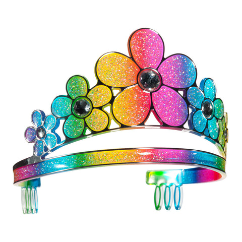 3c4g Three Cheers For Girls Rainbow Flowers Crown - Toyabella.com