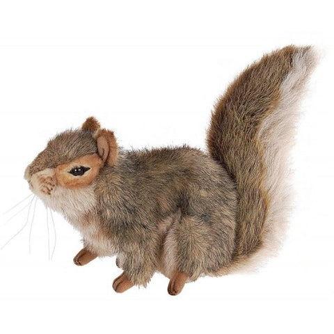 "Hansa Plush Realistic Stuffed Animal - Gray Squirrel Sitting 9""L - Toyabella.com"