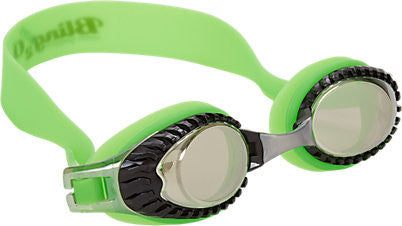 Bling2o Children's Race Car Swim Goggles - Shelby Green - Toyabella.com