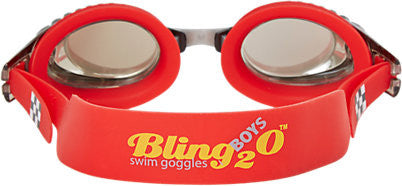 Bling2o Children's Race Car Swim Goggles - Racecar Red - Toyabella.com