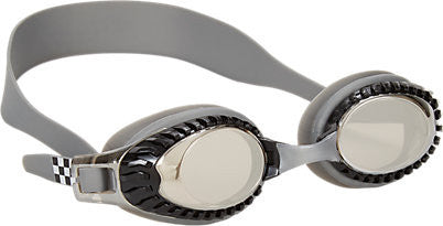 Bling2o Children's Race Car Swim Goggles - Chrome Wheels (Silver) - Toyabella.com