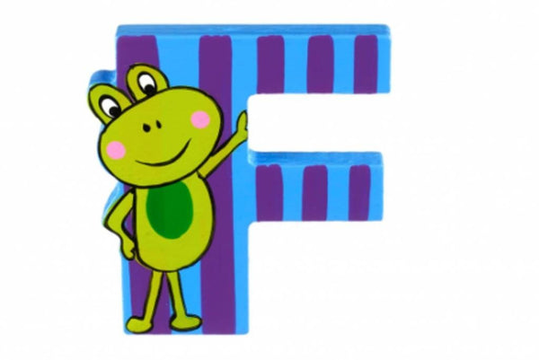 Wooden Freestanding Alphabet Letter (F is for Frog) - Toyabella.com
