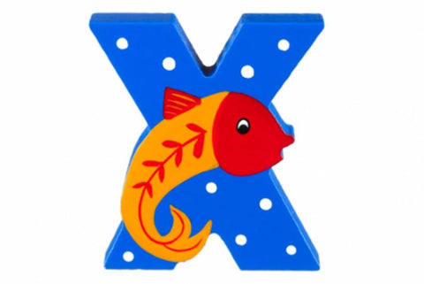 Wooden Freestanding Alphabet Letter (X is for Xray Fish) - Toyabella.com