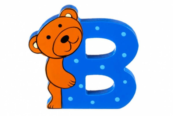 Wooden Freestanding Alphabet Letter (B is for Bear) - Toyabella.com
