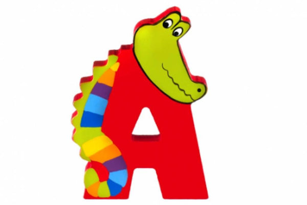 Wooden Freestanding Alphabet Letter (A is for Alligator) - Toyabella.com