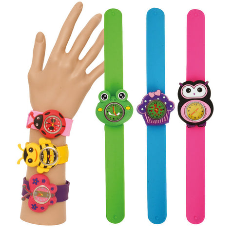 3D Animals Silicone Snap Watch Bracelet - Toyabella.com