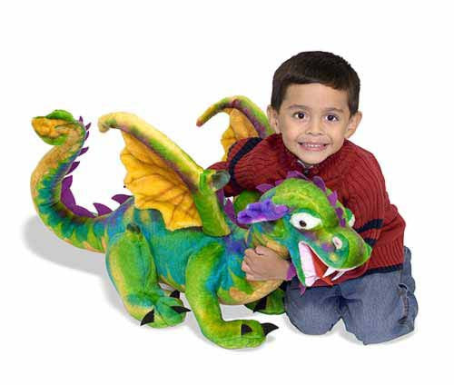 Melissa & Doug Dragon Giant Stuffed Animal - Toyabella  - 2