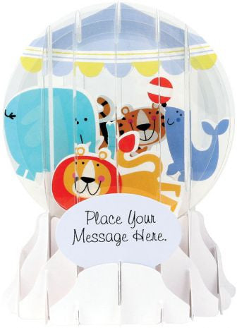 Pop-Up Snow Globe Greeting Card - Baby Mobile - Toyabella.com