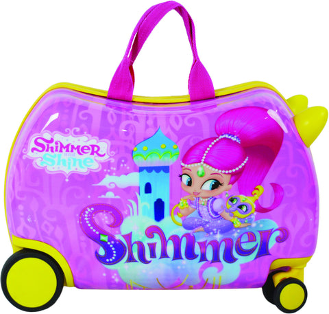 Nickelodeon Shimmer and Shine Cruizer Ride-On 16-inch Hardside Rolling Suitcase - Toyabella  - 1