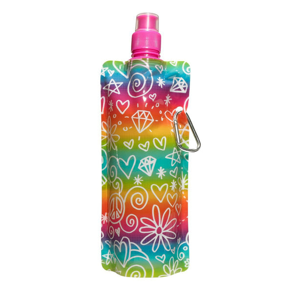 "3C4G Three Cheers for Girls ""Doodle-icious"" Collapsible Water Bottle - Toyabella.com"