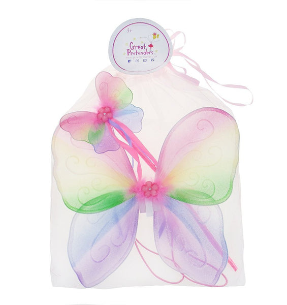 Great Pretenders Snazzy Sparkle Wing & Wand Set - Toyabella.com