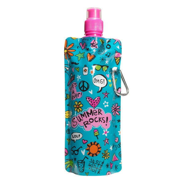 "3C4G Three Cheers for Girls ""Summer Rocks"" Collapsible Water Bottle - Toyabella.com"