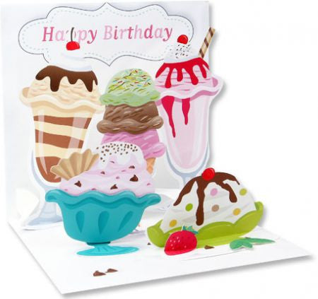 Pop-Up Treasures Greeting Card - Ice Cream! - Toyabella.com