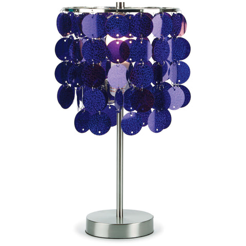 3c4g Three Cheers For Girls Purple Paillette Table Lamp - Toyabella.com