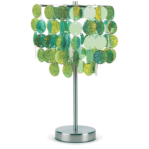 3c4g Three Cheers For Girls Green Paillette Table Lamp - Toyabella.com
