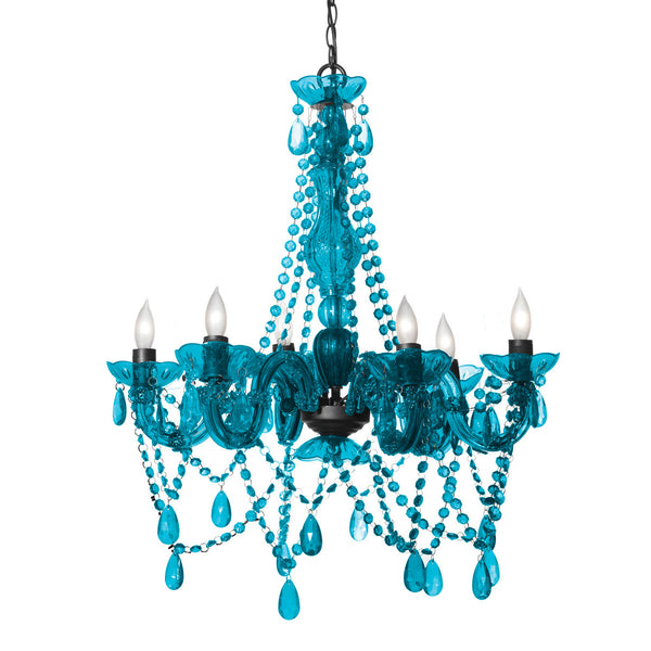 3c4g Three Cheers For Girls Chandelier with Turquoise Finish - Toyabella.com
