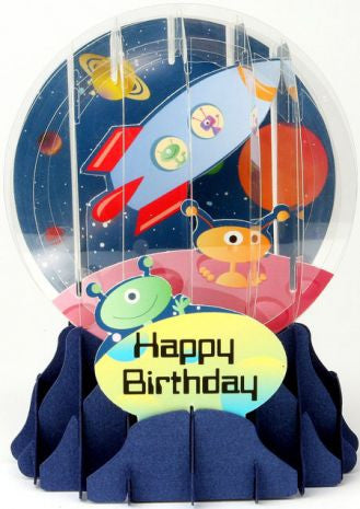Pop-Up Snow Globe Greeting Card - Outer Space - Toyabella.com