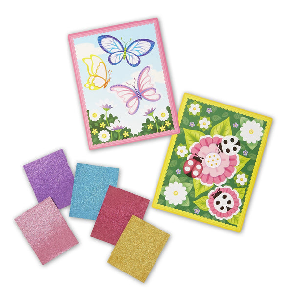 Melissa & Doug Flower and Butterfly Scenes Book - ON the GO Craft Activity - Toyabella  - 2