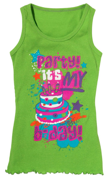 3c4g Three Cheers For Girls Birthday Party Tank Top Small/Medium - Toyabella.com