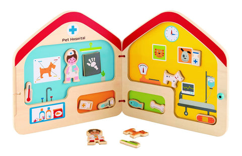 Visit the Vet Magnetic Travel Book Toy by Hape - Toyabella.com